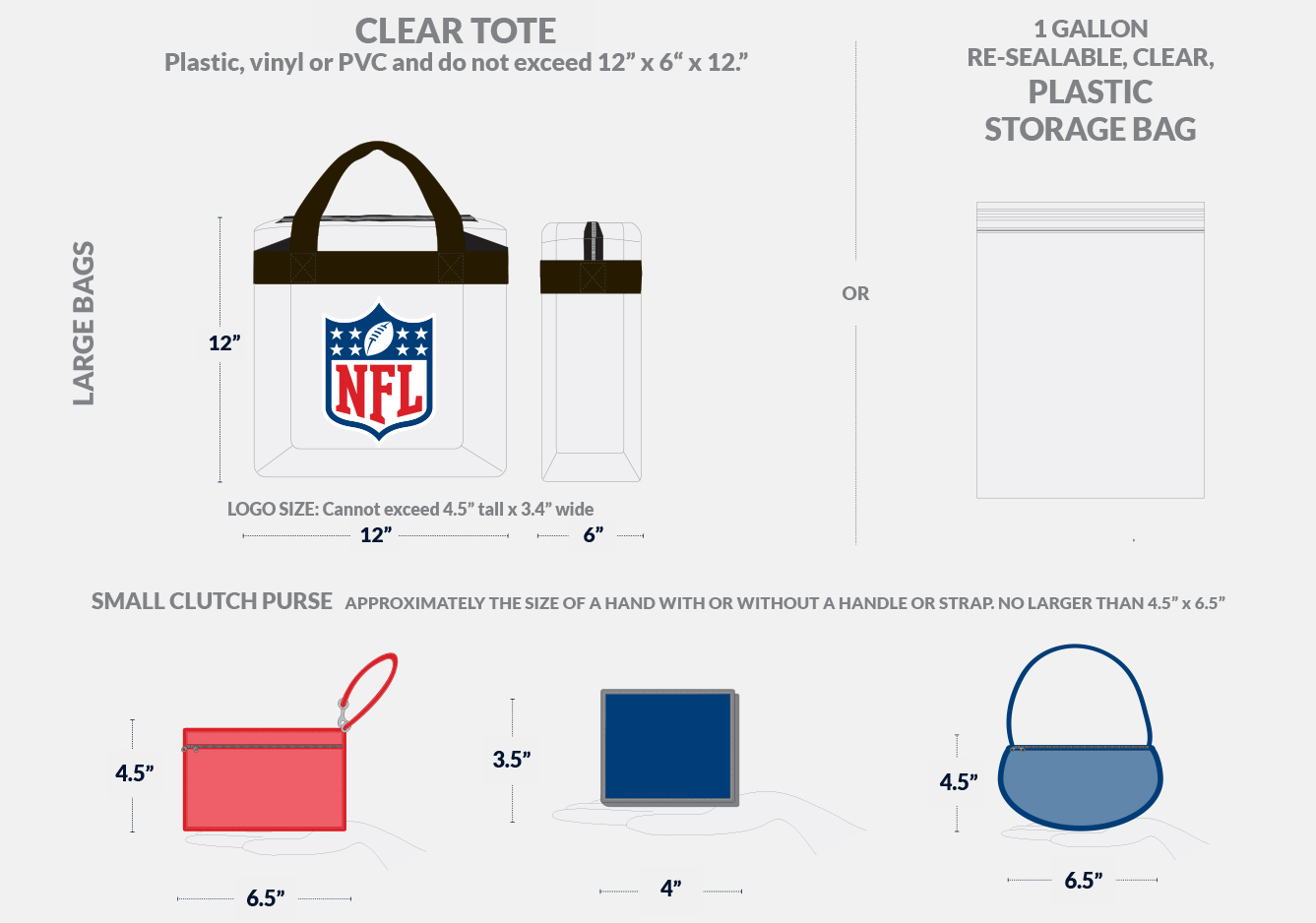 Gameday - Prohibited Items | Seattle Seahawks