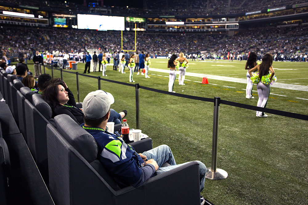 Sideline Field Seating Seattle Seahawks