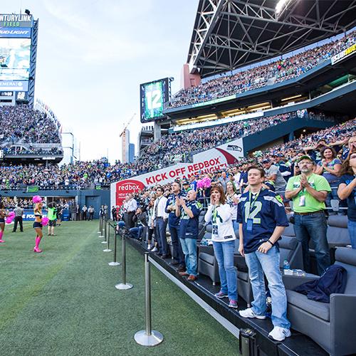 Sideline Field Seating Seattle Seahawks