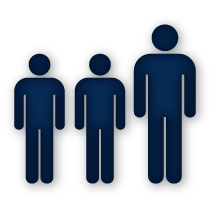Three People Standing in Line Icon