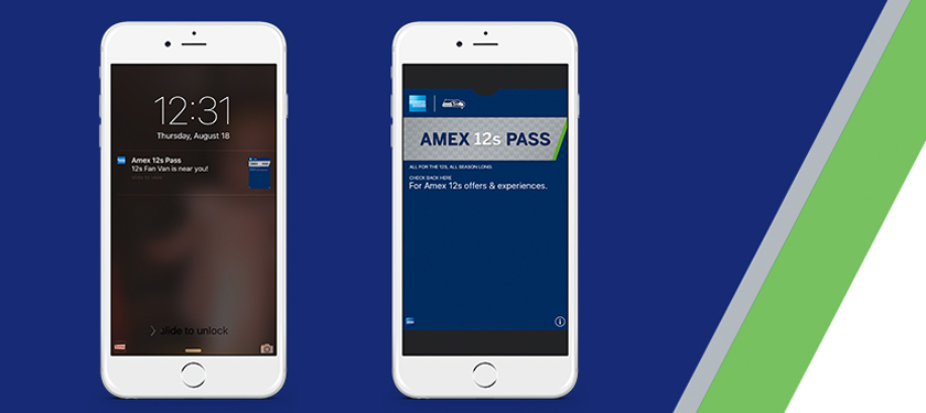 Amex 12s Pass app on an iPhone