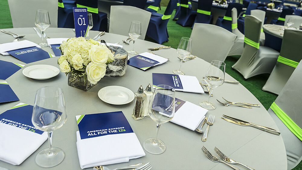 Table is set for Dinner on the 50