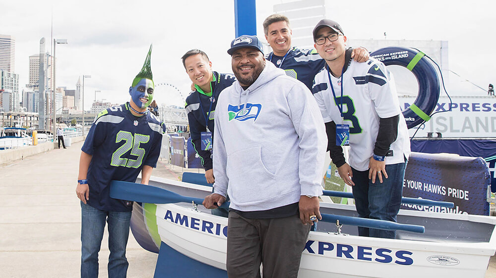 Walter Jones poses with fans