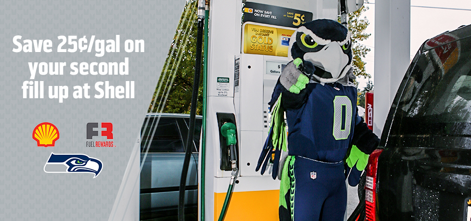 Save 25¢/gal on your second fill up at Shell